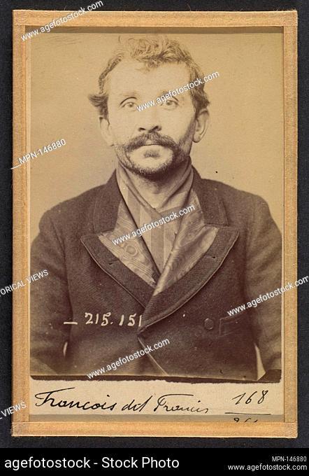 François dit Francis. 38 ans, né le 3/12/55 à Reims (Marne). Ébéniste. Anarchiste. 5/3/94. Artist: Alphonse Bertillon (French