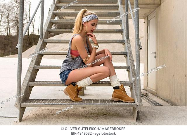 Young women posing in a casual look, fashion