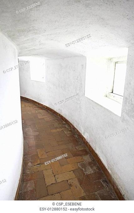 Old corridor with windows