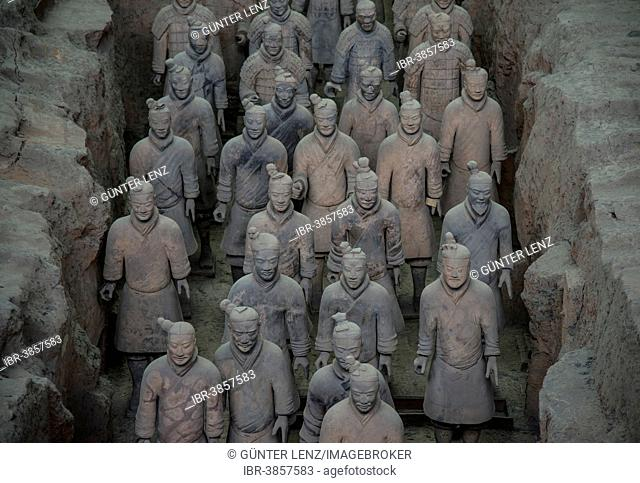 Figures of the Terracotta Army, Xian, Shaanxi Province, China
