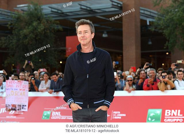 Edward Norton on the red carpet during 14th Rome Film Fest, Rome, 18/10/2019