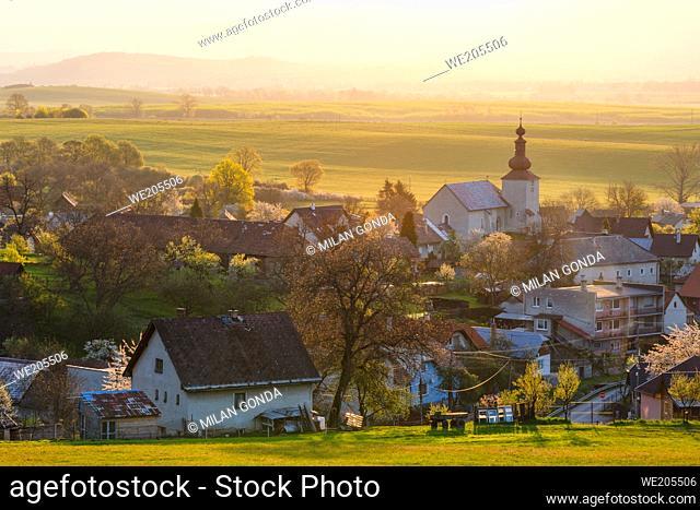 Gothic church in the village of Slovenske Pravno, Slovakia.