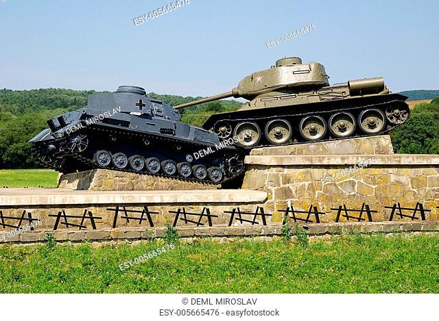 War memorial in nature Svidnik, Eastern Slovakia, Slovakia
