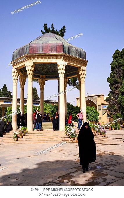 Iran, Fars Province, Shiraz, Tomb of Hafez