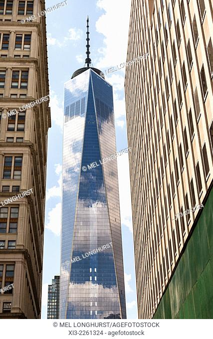 One World Trade Center also known as Tower 1 and Freedom Tower, Manhattan, New York City, New York, USA