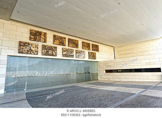 main entrance of the church of the Holy Trinity, Fatima, Portugal, Europe / Igreja da Santissima Trinidade