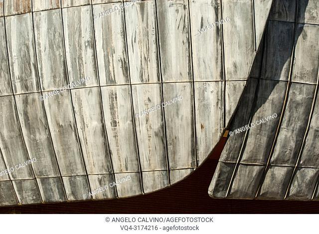 Details of the Auditorium in Rome, Project by Architect Renzo Piano, Accademia Nazionale di Santa Cecilia, Italy
