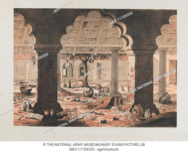 The Chamber of Blood, Cawnpore 1857. Tinted lithograph by Vincent Brooks after Lt Charles Wade Crump, Madras Artillery, No
