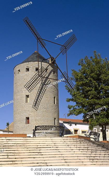 Windmill, Calanas, Huelva province, Region opf Andalusia, Spain, Europe