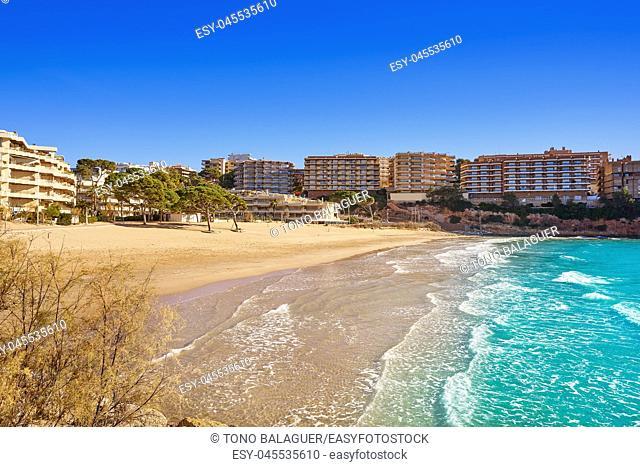 Salou Platja Capellans beach in Tarragona of Catalonia
