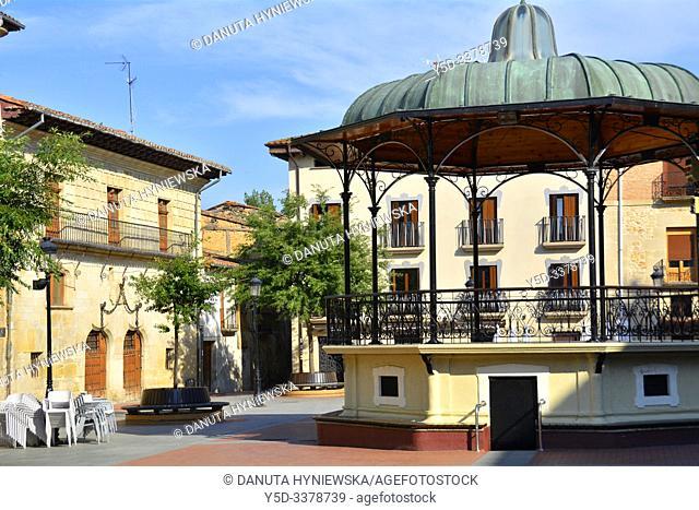 Plaza de España - Miranda de Ebro, Burgos province, Castile and León, on the border with the province of Álava and the autonomous community of La Rioja, Spain