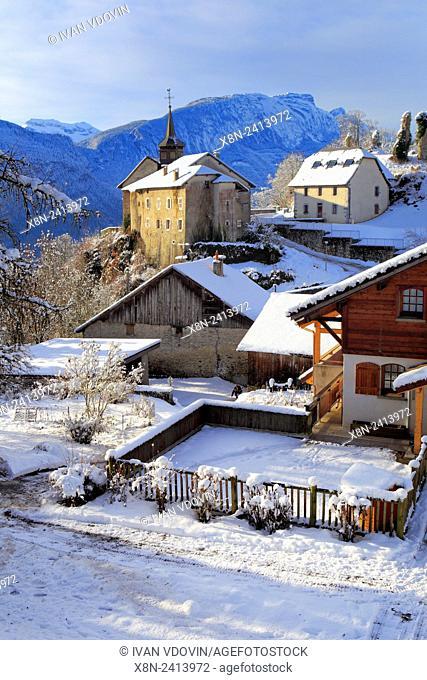 Arves valley, near Thyez, Saint-Sigismond, Haute-Savoie, France