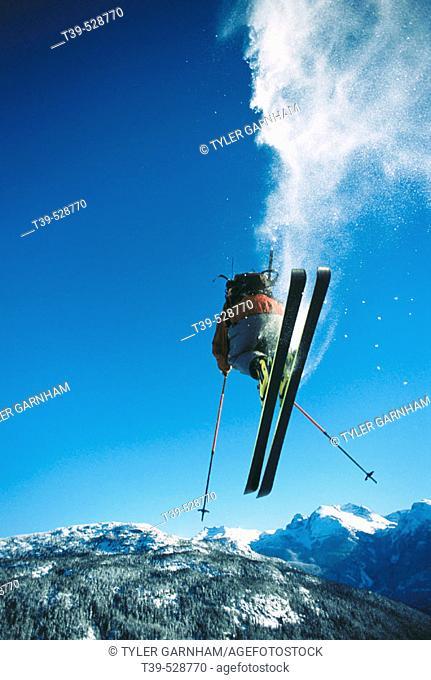 Skiing. Whistler, British Columbia, Canada