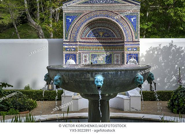 J. Paul Getty villa in Los Angeles turned into museum keeping the ancient Roman art collection
