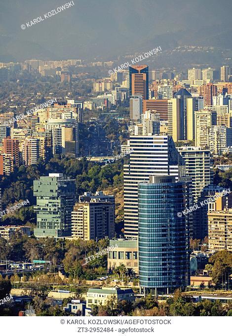 Providencia seen from the Metropolitan Park, Santiago, Chile