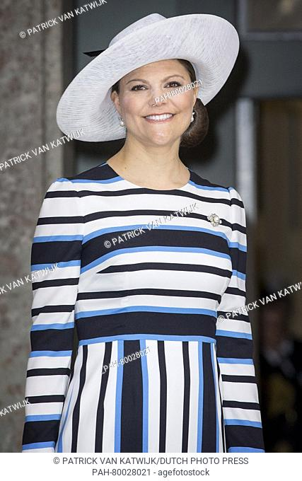 Crown Princess Victoria attends the Te Deum mass at the royal chapel of the Royal Palace in Stockholm, Sweden, 30 April 2016