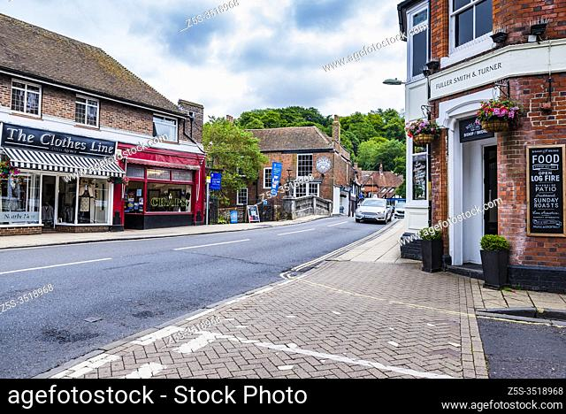 Street in Winchester, Hampshire, England, United Kingdom, Europe