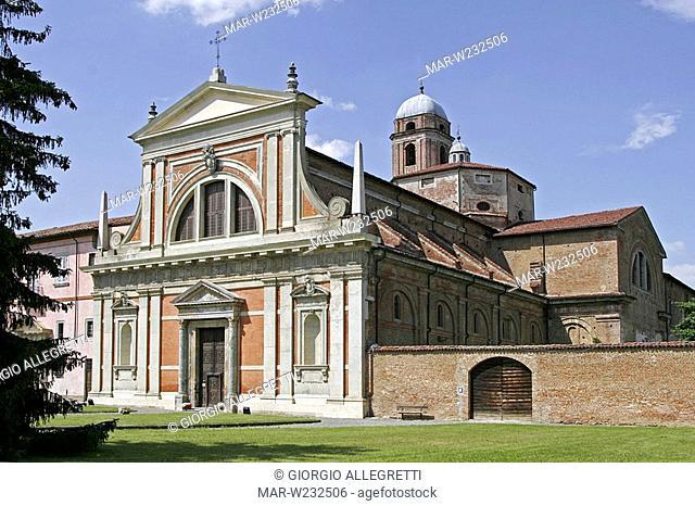 europe, italy, piedmont, bosco marengo, st croce monastery