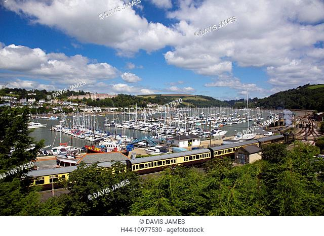 Kingswear, Dartmouth, South Hams, Devon, South-West England, Britain, UK, Europe, British, English, south coast, famous, steam train, locomotive, rail, railway