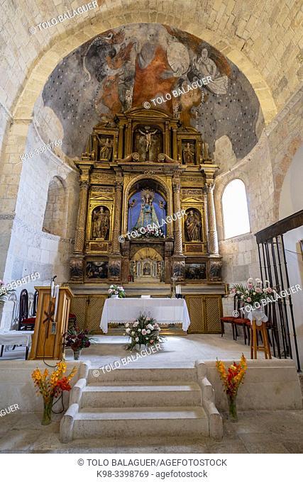 Altarpiece and paintings of the apse, Iglesia de Nuestra Señora del Rivero, 12th Century, San Esteban de Gormaz, Soria, Comunidad Autónoma de Castilla, Spain