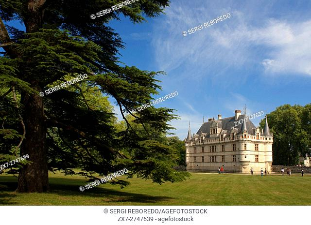 Azay le Rideau Castle, UNESCO World Heritage Site, Indre et Loire, Touraine, Loire Valley, France, Europe