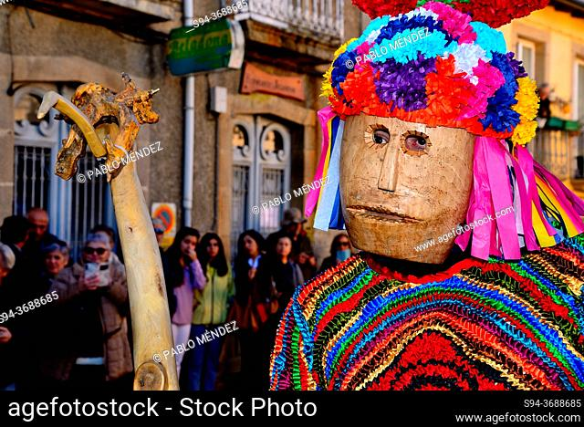 Boteiros of Viana council. Entroido or carnival of Viana do Bolo, Orense, Spain