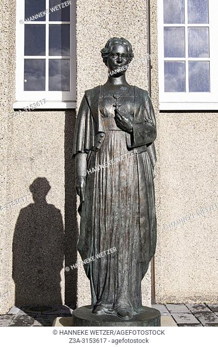 Statue at the sculpture garden of the Einar Jónsson museum in Reykjavik, Iceland