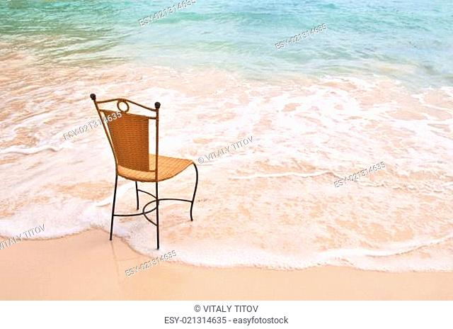 Chair on an exotic beach