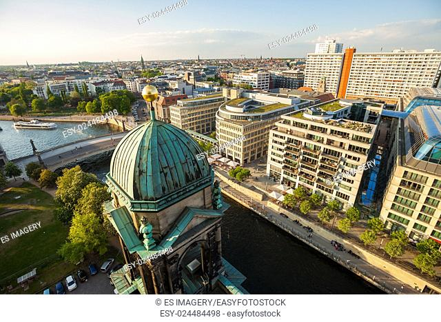 The Berliner Dom, River Spree, and Hackescher Markt in afternoon