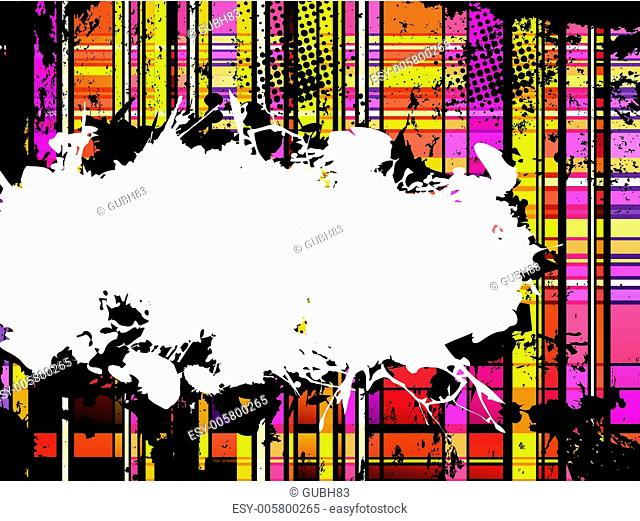 Checkered Yellow and Orange Grunge Background