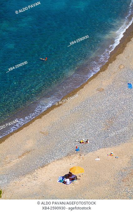 Beach, Cala Tinnari, Sardinia, Italy