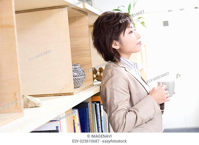 Office Worker Having Coffee