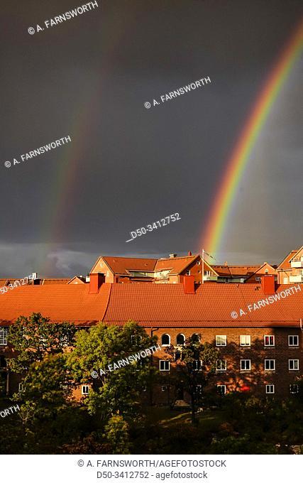 Stockholm, Sweden A rainbow over Stockholm
