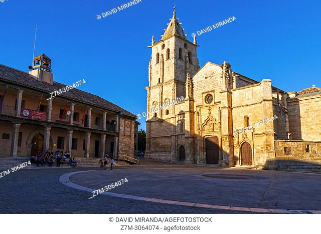 Ayuntamiento e Iglesia de Santa María Magdalena. Torrelaguna. Madrid. Spain