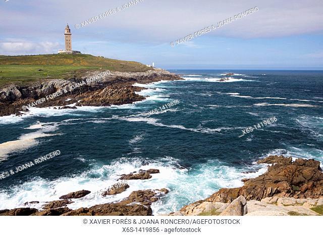 Watchtower of Hercules - Torre de Hercules -, Park of Tower, A Coruña, Galicia, Spain