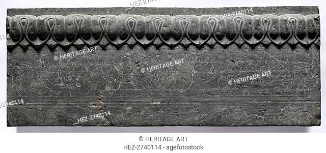 Section of a Coffin Platform: Horizontal Panel, 550-577. Creator: Unknown