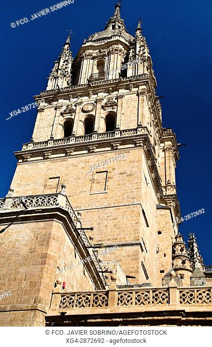 Torre de la Catedral Nueva. Salamanca. Castilla-León. España. Europa