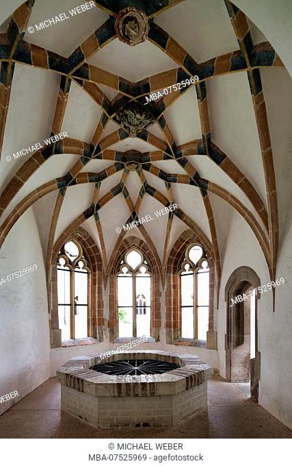 Lavatorium Chapel, lavatory, monastery, monastery church, Blaubeuren, Swabian Jura, Baden-Württemberg, Germany