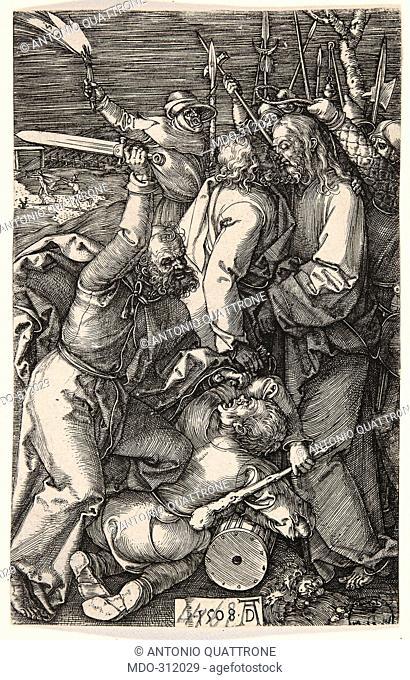 Christ Taken Prisoner, by Albrecht Durer, 1508, 16th Century, burin engraving