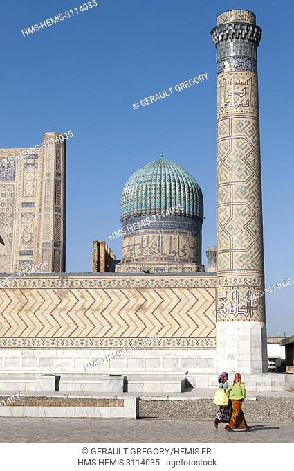 Uzbekistan, Samarkand Province, Samarkand, listed as World Heritage by UNESCO, Bibi Khanym Mosque