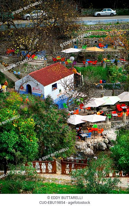 Ras al-Ma source, Chefchaouen, the blue pearl, village northeast of Morocco, North Africa, Africa