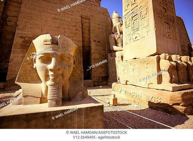 Statues of king Ramesses II, Luxor temple, Luxor city, Egypt