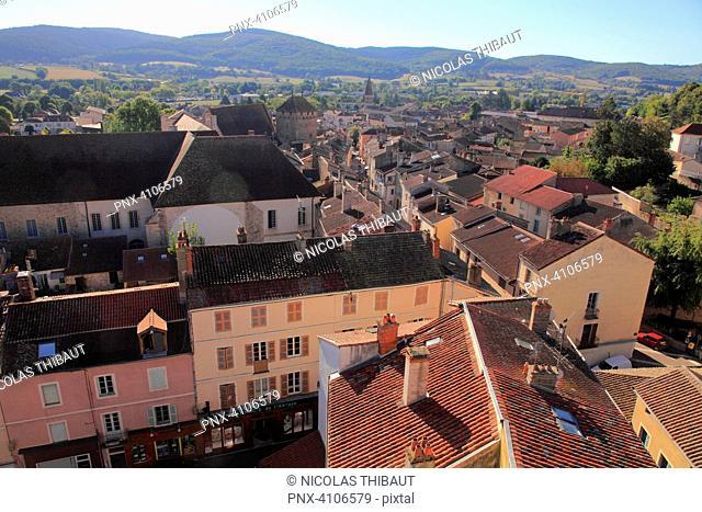 France, Bourgogne Franche Comte, Saone et Loire department (71), Cluny