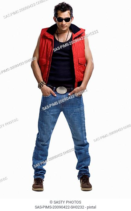 Male fashion model posing