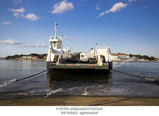 Chain Ferry leaving Shell Bay to Sandbanks Poole Harbour Dorset