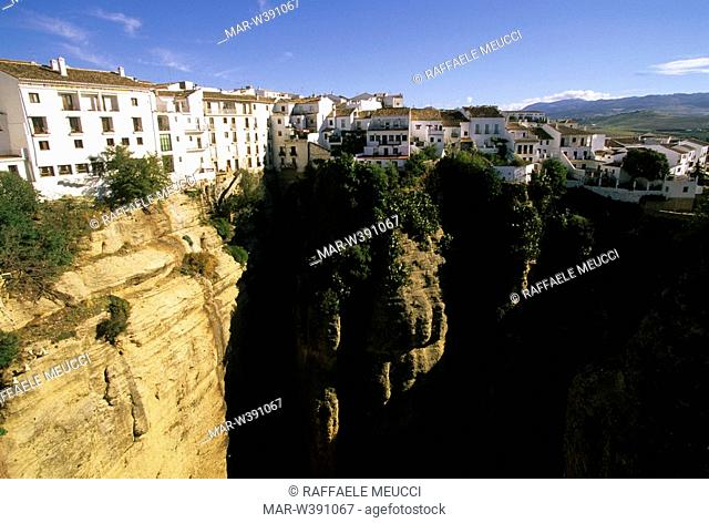 tajo bridge, ronda, andalusia, spain