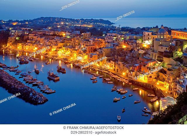Marina Corricella, Procida Island, Bay of Naples, Campania, Italy
