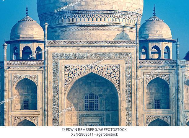 View of the Taj Mahal in Agra, India