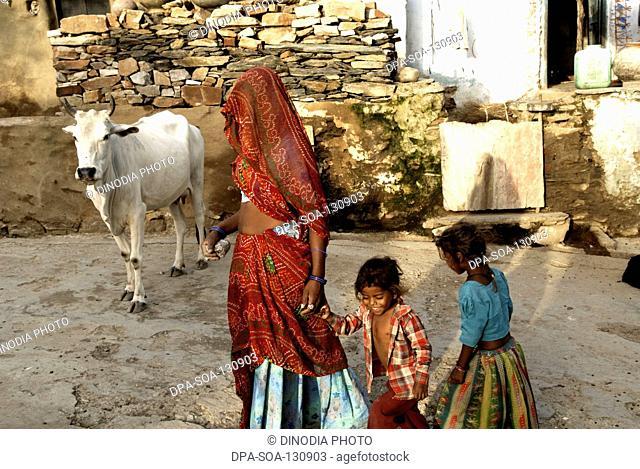 Village life ; Dilwara ; Rajasthan ; India