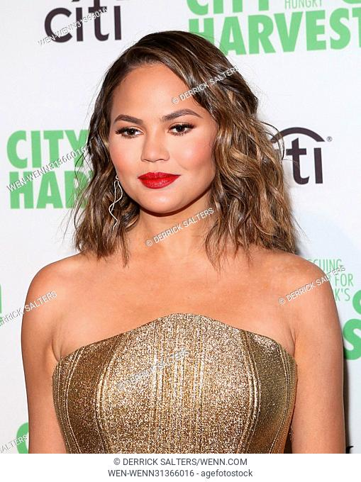 Celebrities attend City Harvest's 23rd Annual Gala at Cipriani 42nd Featuring: Chrissy Teigen Where: New York, New York, United States When: 25 Apr 2017 Credit:...